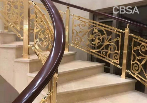 How to apply color stainless steel stair railing?