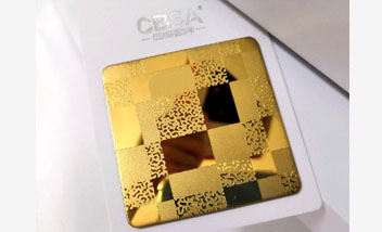 Gold etched Stainless Steel Sheet
